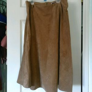 2/$20 Suzy Shier Camel Midi Skirt